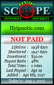Monitored by hyipscope.org